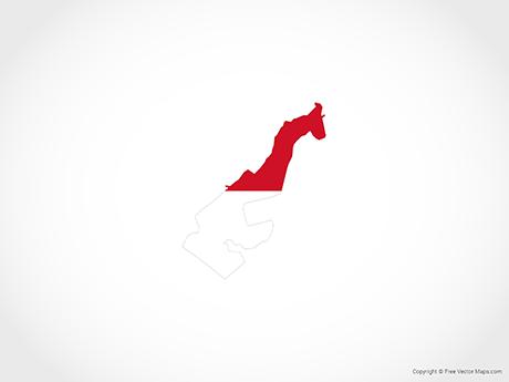 Free Vector Map of Monaco - Flag