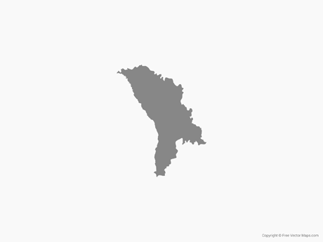 Free Vector Map of Moldova - Single Color