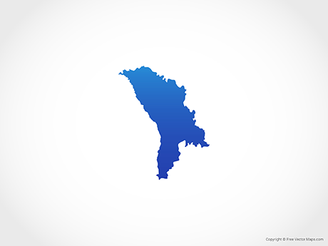 Free Vector Map of Moldova - Blue