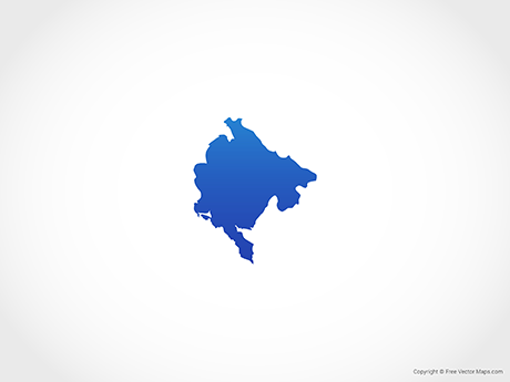 Free Vector Map of Montenegro - Blue