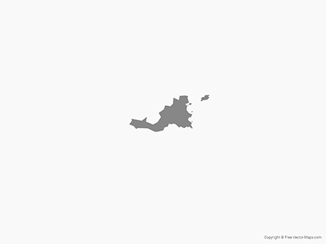 Free Vector Map of Saint Martin - Single Color