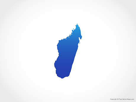 Free Vector Map of Madagascar - Blue