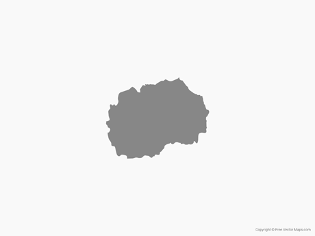 Free Vector Map of Macedonia - Single Color