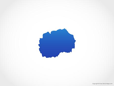 Free Vector Map of North Macedonia - Blue