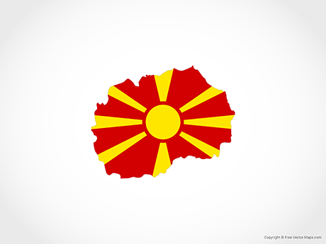 Free Vector Map of Macedonia - Flag