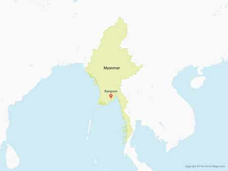 Free Vector Map of Myanmar