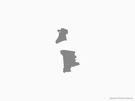 Vector Map Of Macau Single Color Free Vector Maps - Macau map