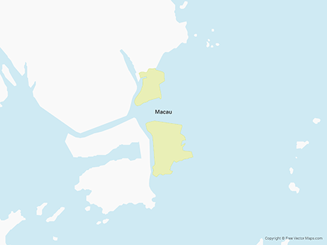 Vector Map of Macau | Free Vector Maps on san marino map, hong kong map, mongolia map, shanghai map, lijiang map, irrawaddy river map, indonesia map, dalian map, cotai map, chengdu map, wuhan map, macedonia map, asia map, china map, taipei map, beijing map, zhuhai map, kunming map, yangtze river map, suzhou map, guangzhou map, xiamen map, macau attractions, malta map, brunei map, shenzhen map, tianjin map, macau hotels, taipa map, niue map, huangshan map, vietnam map, nanjing map,