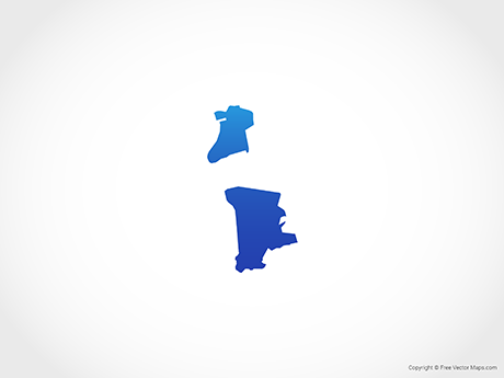 Free Vector Map of Macau - Blue
