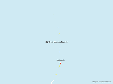 Free Vector Map of Northern Mariana Islands