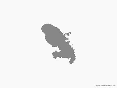 Free Vector Map of Martinique - Single Color