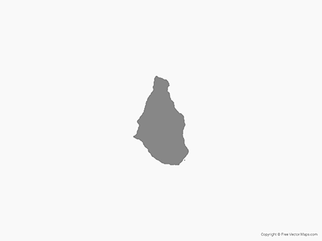 Free Vector Map of Montserrat - Single Color