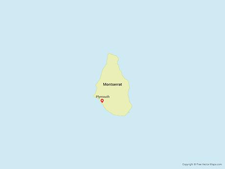 Free Vector Map of Montserrat