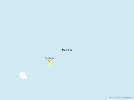 Free Vector Map of Mauritius