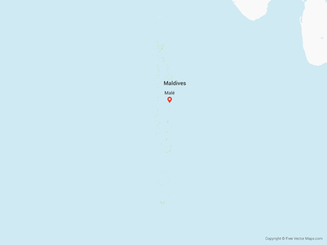 Free Vector Map of Maldives