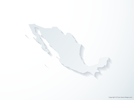 Free Vector Map of Mexico - 3D