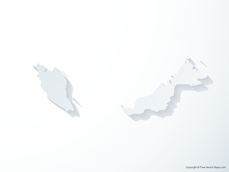 Free Vector Map of Malaysia - 3D