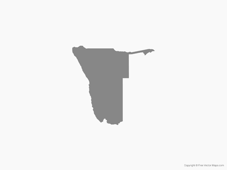 Map of Namibia - Single Color