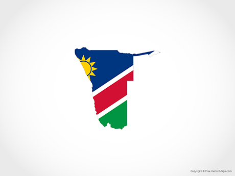Free Vector Map of Namibia - Flag
