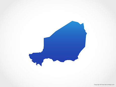 Free Vector Map of Niger - Blue