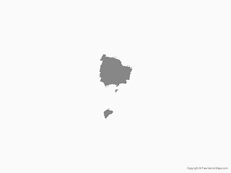Map of Norfolk Island - Single Color