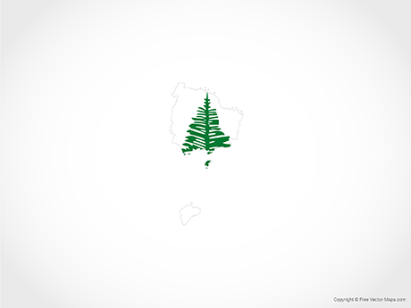 Free Vector Map of Norfolk Island - Flag