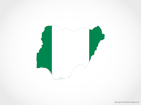 Free Vector Map of Nigeria - Flag