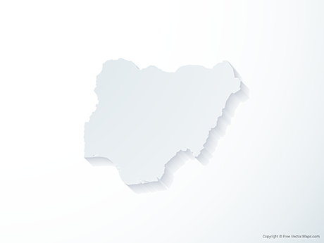 Free Vector Map of Nigeria - 3D