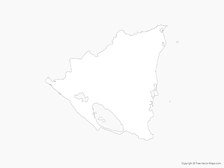 Free Vector Map of Nicaragua - Outline