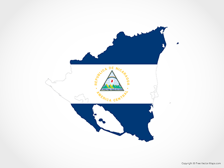 Free Vector Map of Nicaragua - Flag