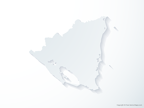 Free Vector Map of Nicaragua - 3D