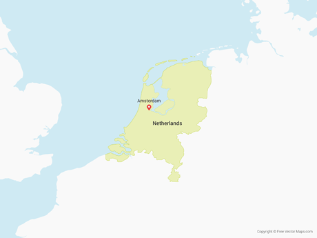 Free Vector Map of Netherlands