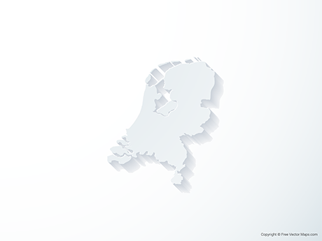 Free Vector Map of Netherlands - 3D