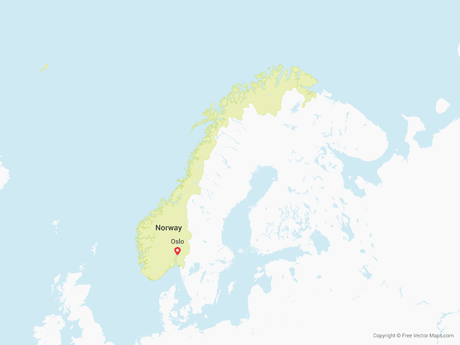 Free Vector Map of Norway