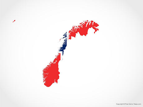 Free Vector Map of Norway - Flag