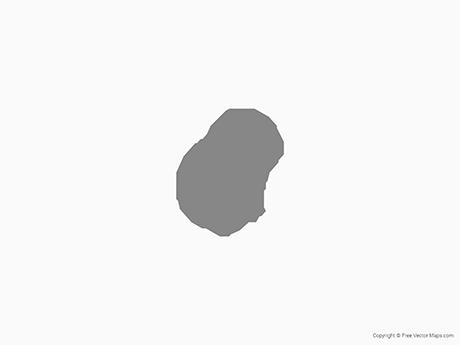 Map of Nauru - Single Color