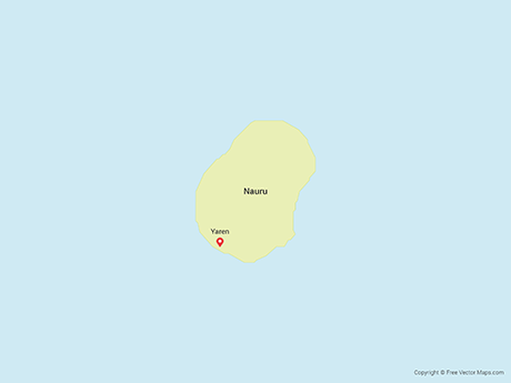 Free Vector Map of Nauru