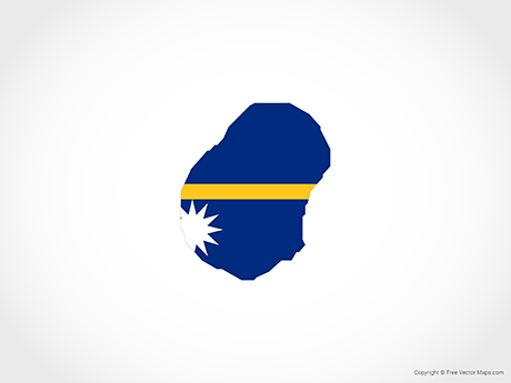 Free Vector Map of Nauru - Flag