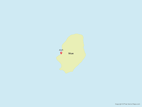 Free Vector Map of Niue