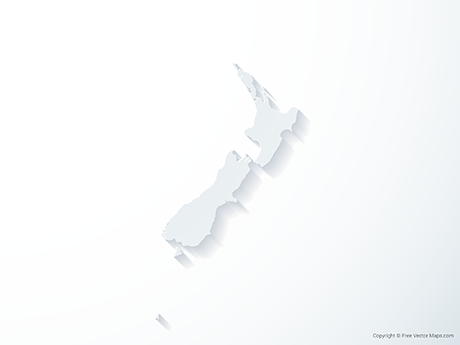 Free Vector Map of New Zealand - 3D