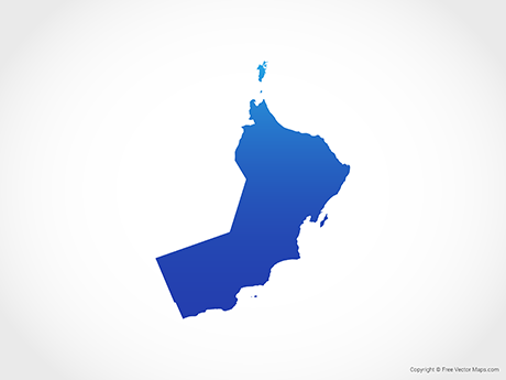 Free Vector Map of Oman - Blue