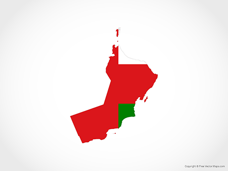 Vector Map of Oman - Flag | Free Vector Maps