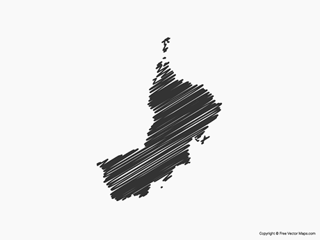 Free Vector Map of Oman - Sketch