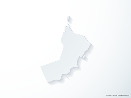 Free Vector Map of Oman - 3D