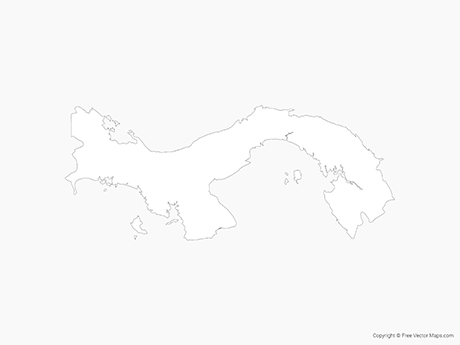Free Vector Map of Panama - Outline