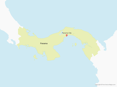 Free Vector Map of Panama