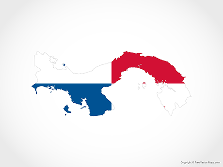Free Vector Map of Panama - Flag