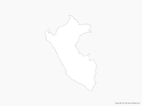 Free Vector Map of Peru - Outline
