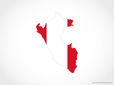 Free Vector Map of Peru - Flag
