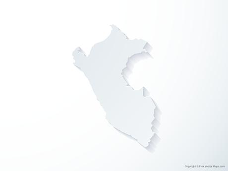 Free Vector Map of Peru - 3D